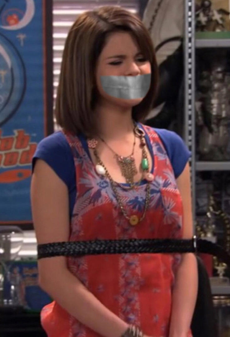 Selena Gomez Belt Tied and Tape Gagged 3 by Goldy0123 on