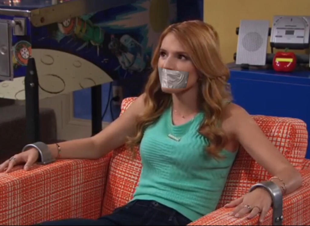 Bella Thorne Handcuffed and Tape Gagged by Goldy0123 on ...  Bella Thorne Ha...