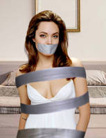 Angelina Jolie Tape Bound and Gagged by Goldy0123