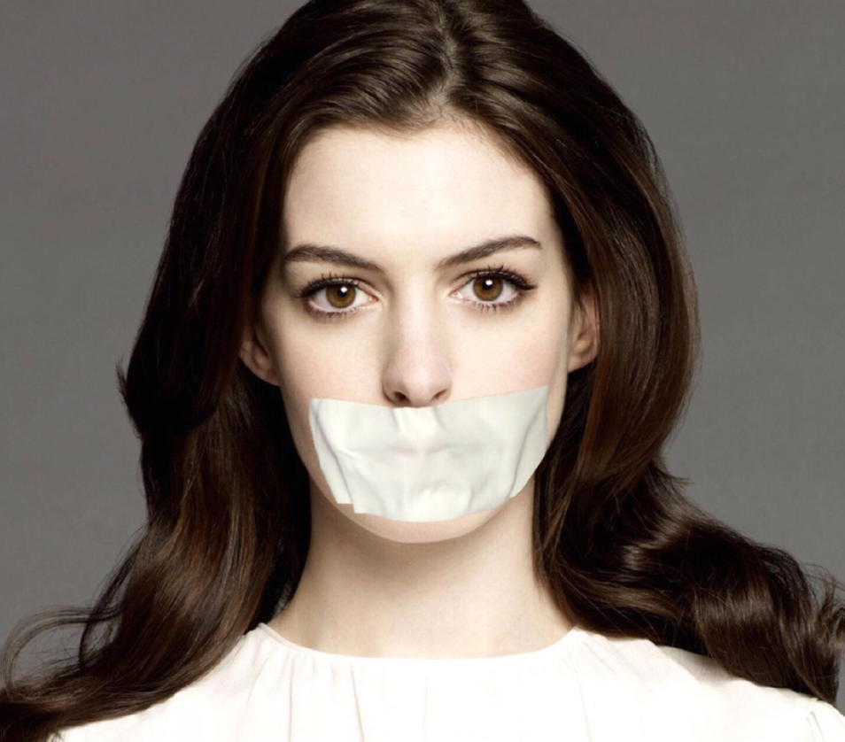Anne Hathaway Drawing: Anne Hathaway Tape Gagged By Goldy0123 On DeviantArt