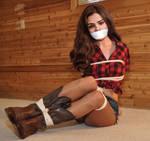 Cowgirl Selena Gomez Bound and Gagged