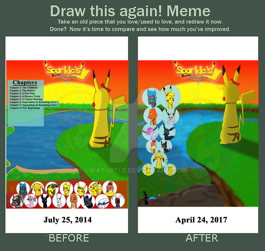 Draw This Again Meme Sparkles Adventure Cover By Pikaturtle On
