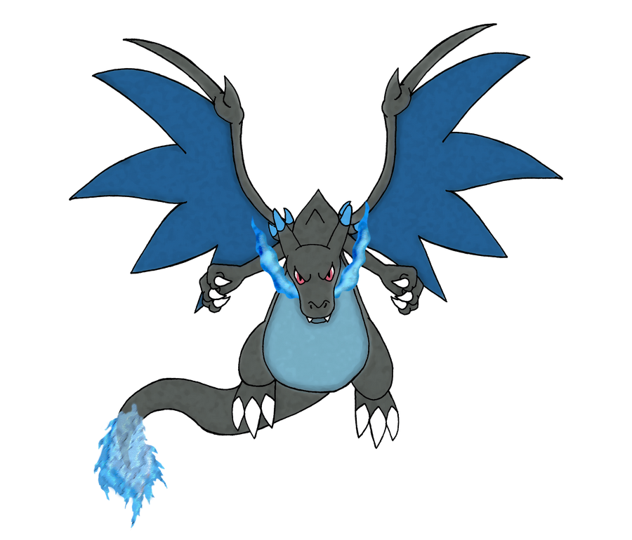 Mega Charizard X By An Insane One On Deviantart