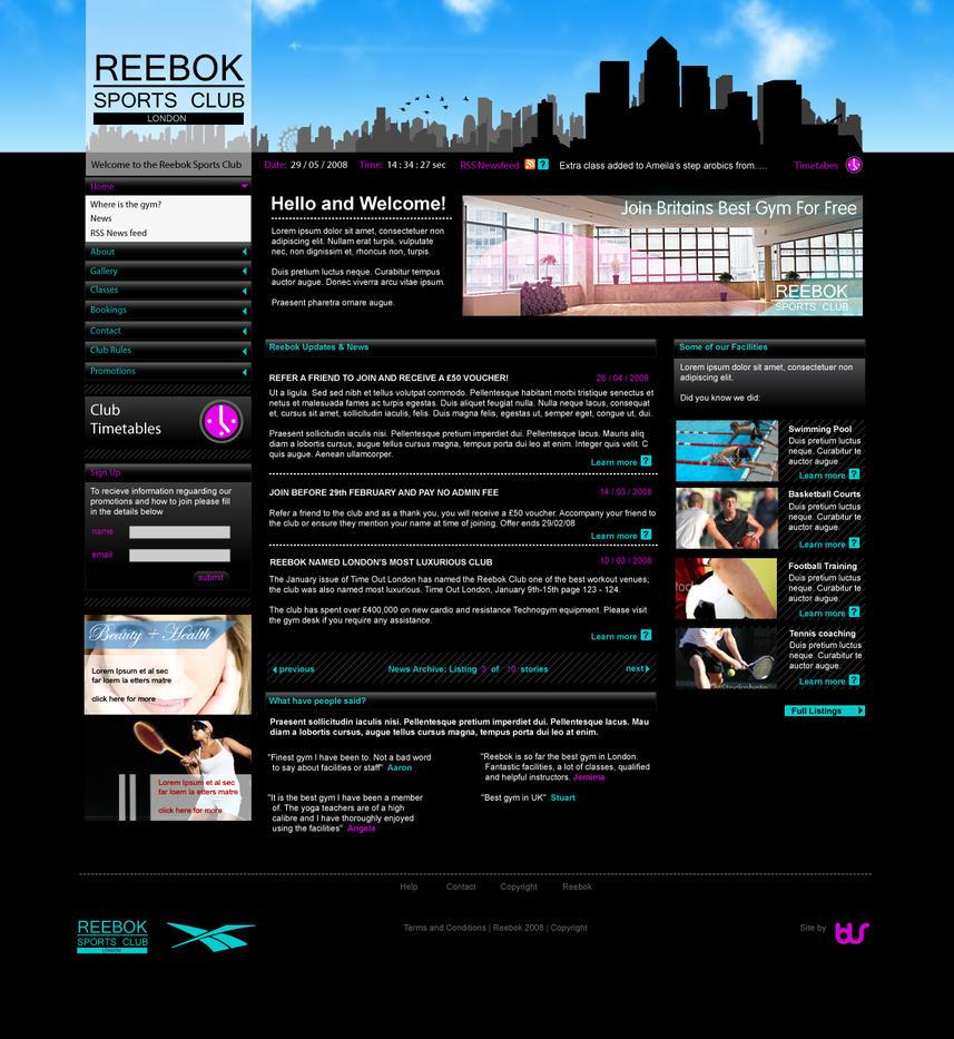 Reebok Gym Concept by bassmansgz