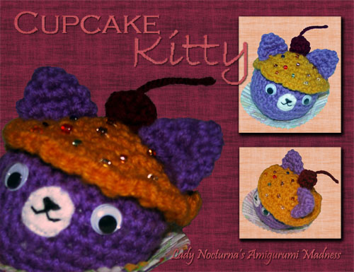 Cupcake Kitty - Amigurumi by Lady-Nocturna