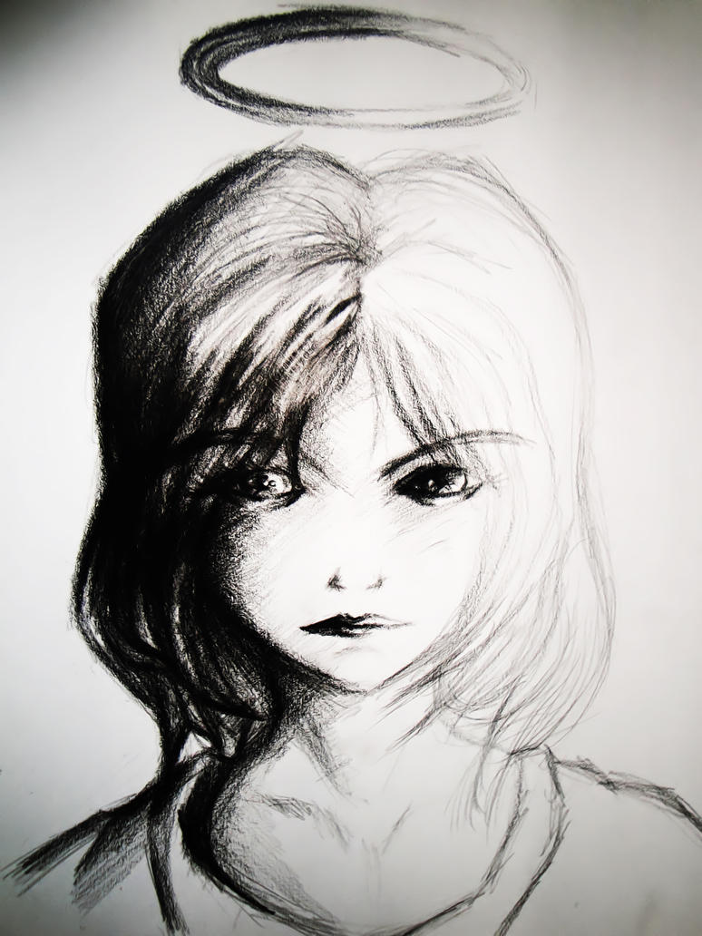 Angel Drawing by Hiroshi-Sea on DeviantArt