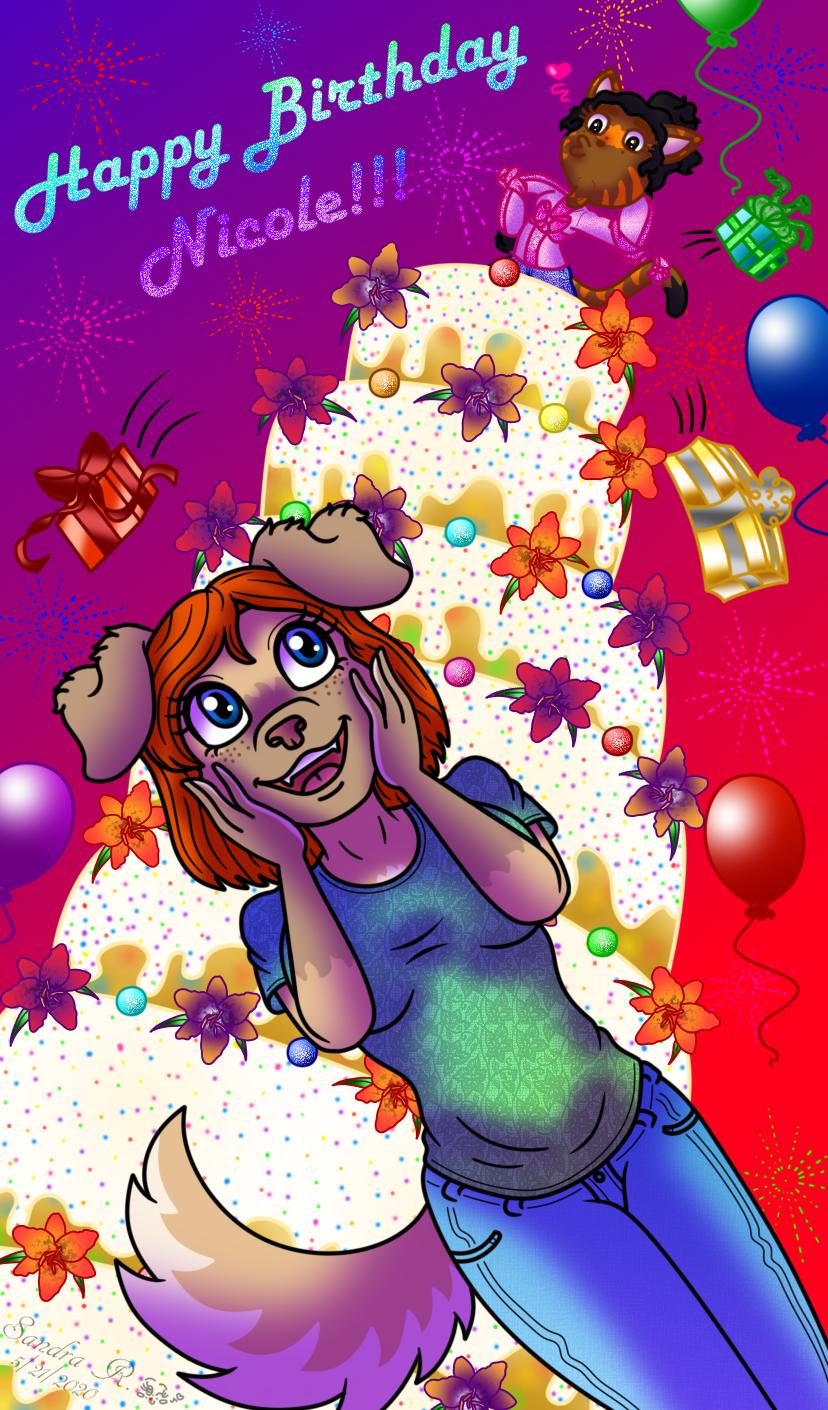 Happy Birthday Nicole 2020 By Colorfulmoongato On Deviantart