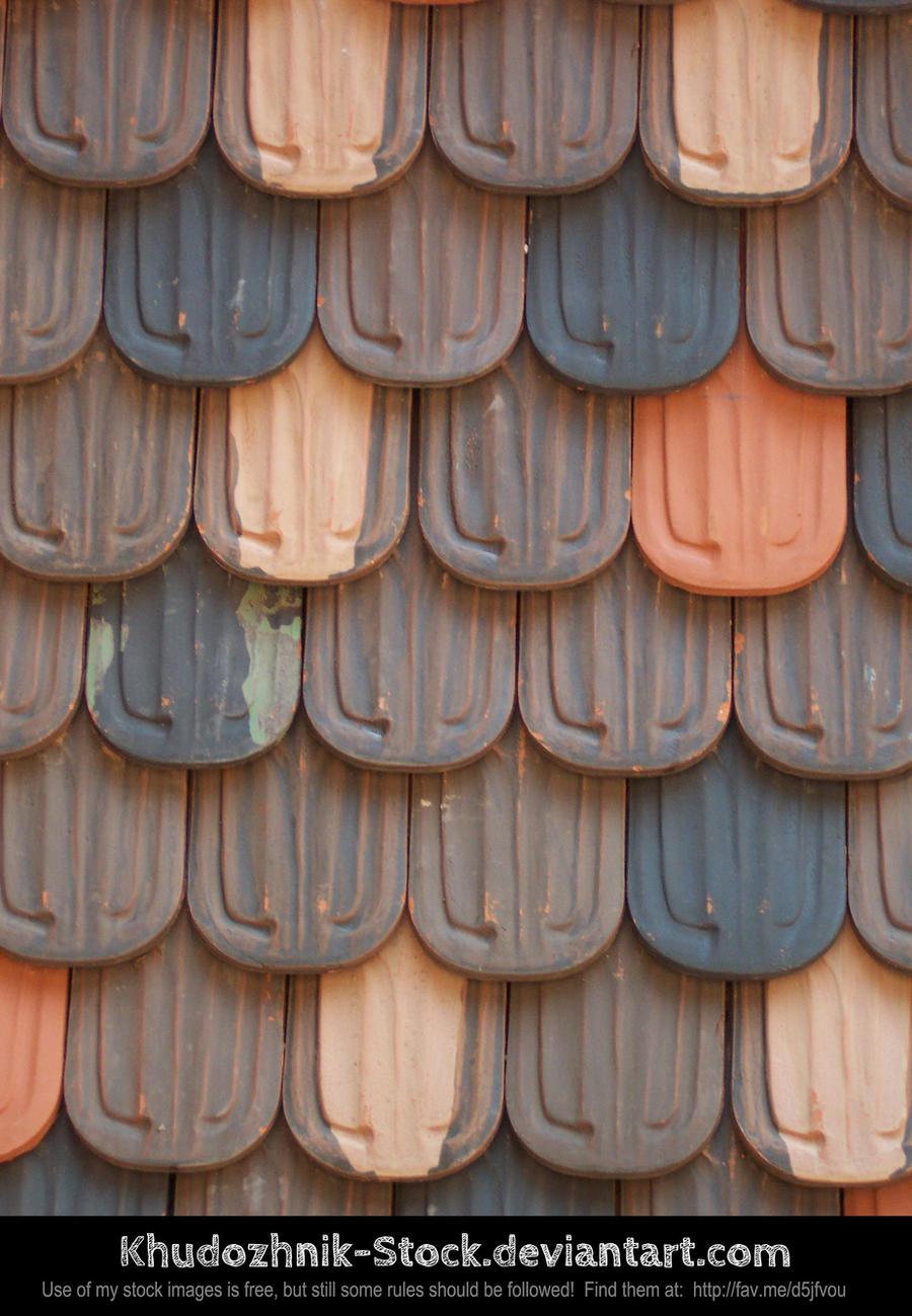 Castle Roof Tiles texture stock
