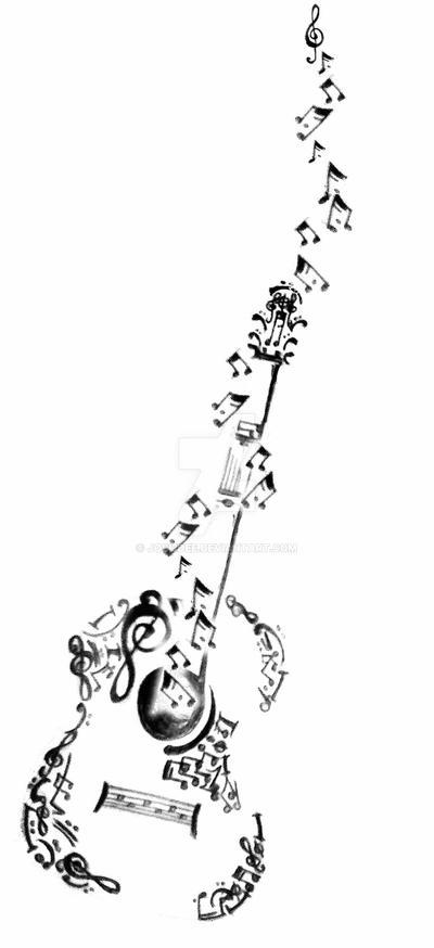 Guitar Tattoo Design By Josi3dee On Deviantart