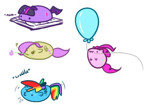 Blobby Ponies by Taldigi
