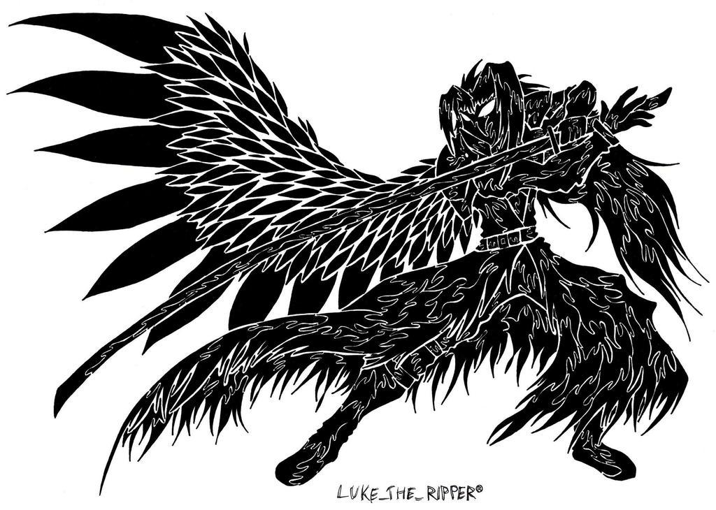 Sephiroth Wing Tattoo