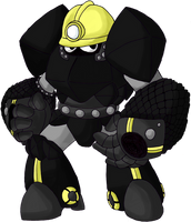 Robot Master OC - CoalMan by LukeTheRipper