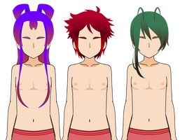 Male Hairstyles and Exports by KimikotheLexicon