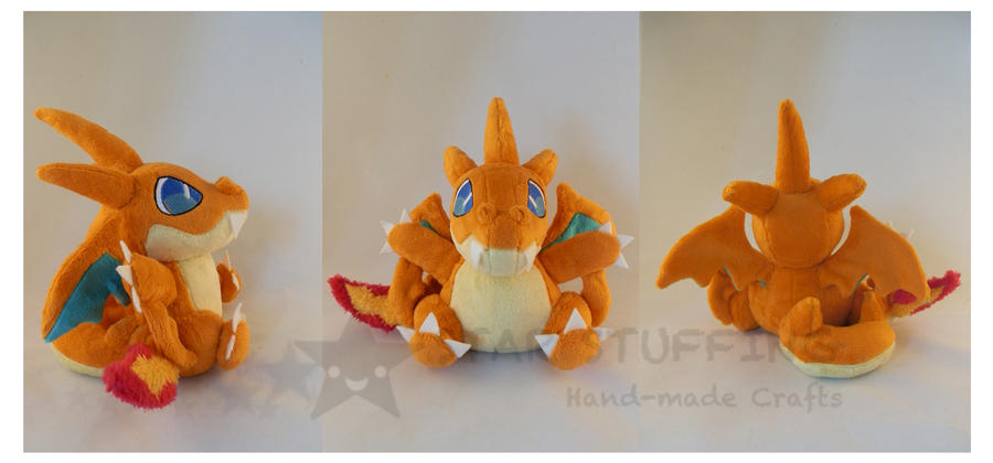 Pokemon Charizard Y Plush by StarMassacre