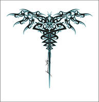 tribal caduceus by geargrinder
