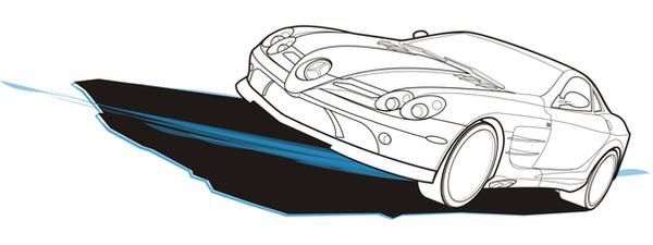 Mercedes-Benz SLR VexelArt by geargrinder