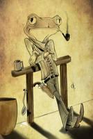Frog gunslinger by GuilhermeZanatta