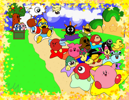 Kirby's Dream Land by brushtrail