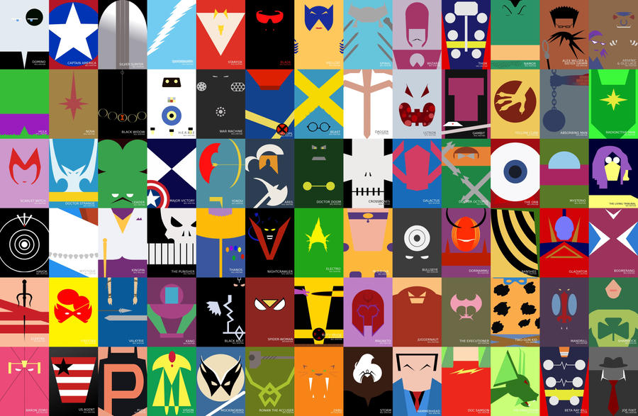 Marvel minimalist wallpaper by neilkristian on deviantart for Minimal art hero
