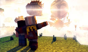 Steampunk world in Minecraft by n4swai