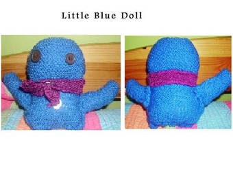 Little Blue Man by Winters-Feather