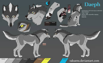 Daeph - Feral Reference Sheet by Rakuens