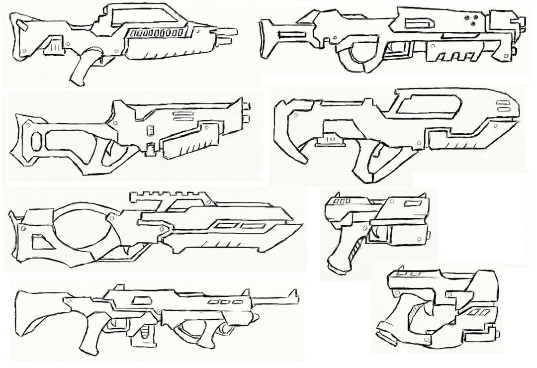 Gun Concepts I by JxAir