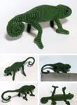 Custom Crochet Chameleon