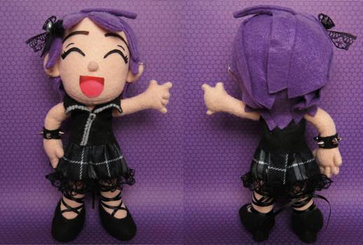 Little rocker girl plush