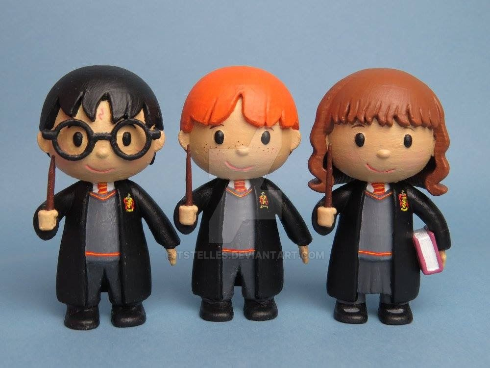 Harry, Ron and Hermione - 3D printed by tstelles