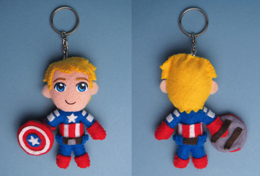 Captain America keychain by tstelles