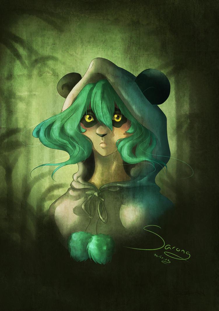 Panda Girl by Sarong-Art
