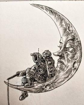 Inktober day 18: moon.