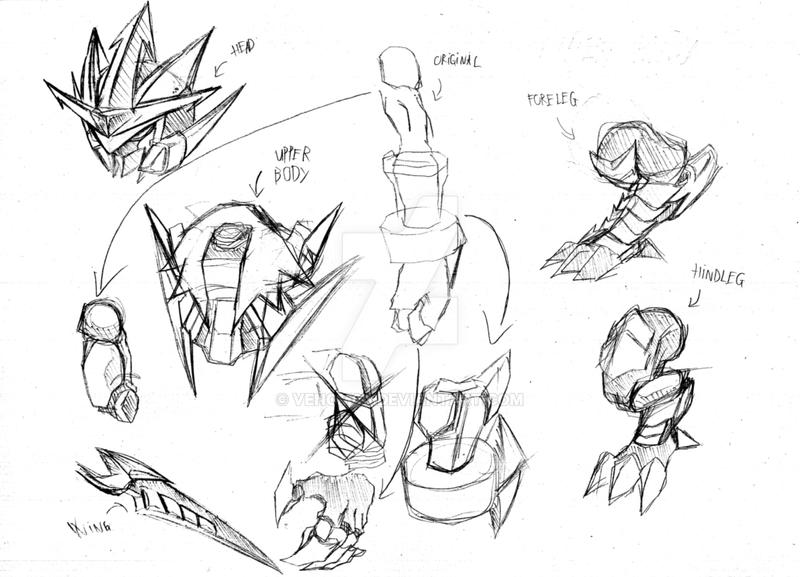 Final Boss Rough Sketch _Part1 by venom00