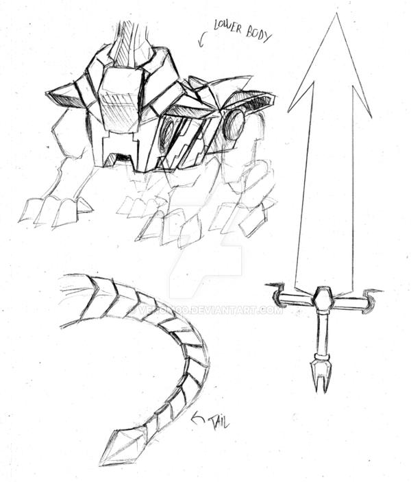 Final Boss Rough Sketch_Part2 by venom00