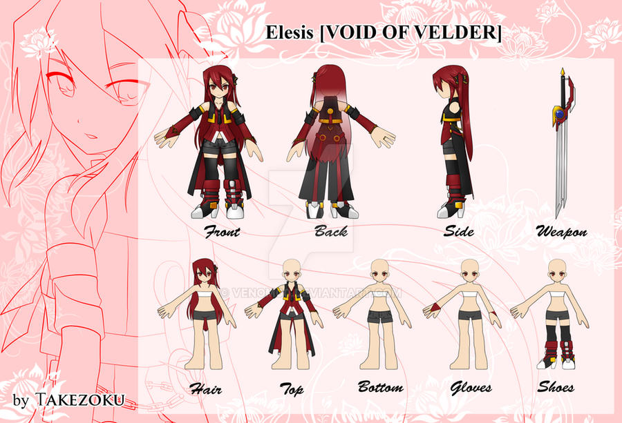 Game Character Design Competition 2015 : Elsword costume design contest elesis by venom