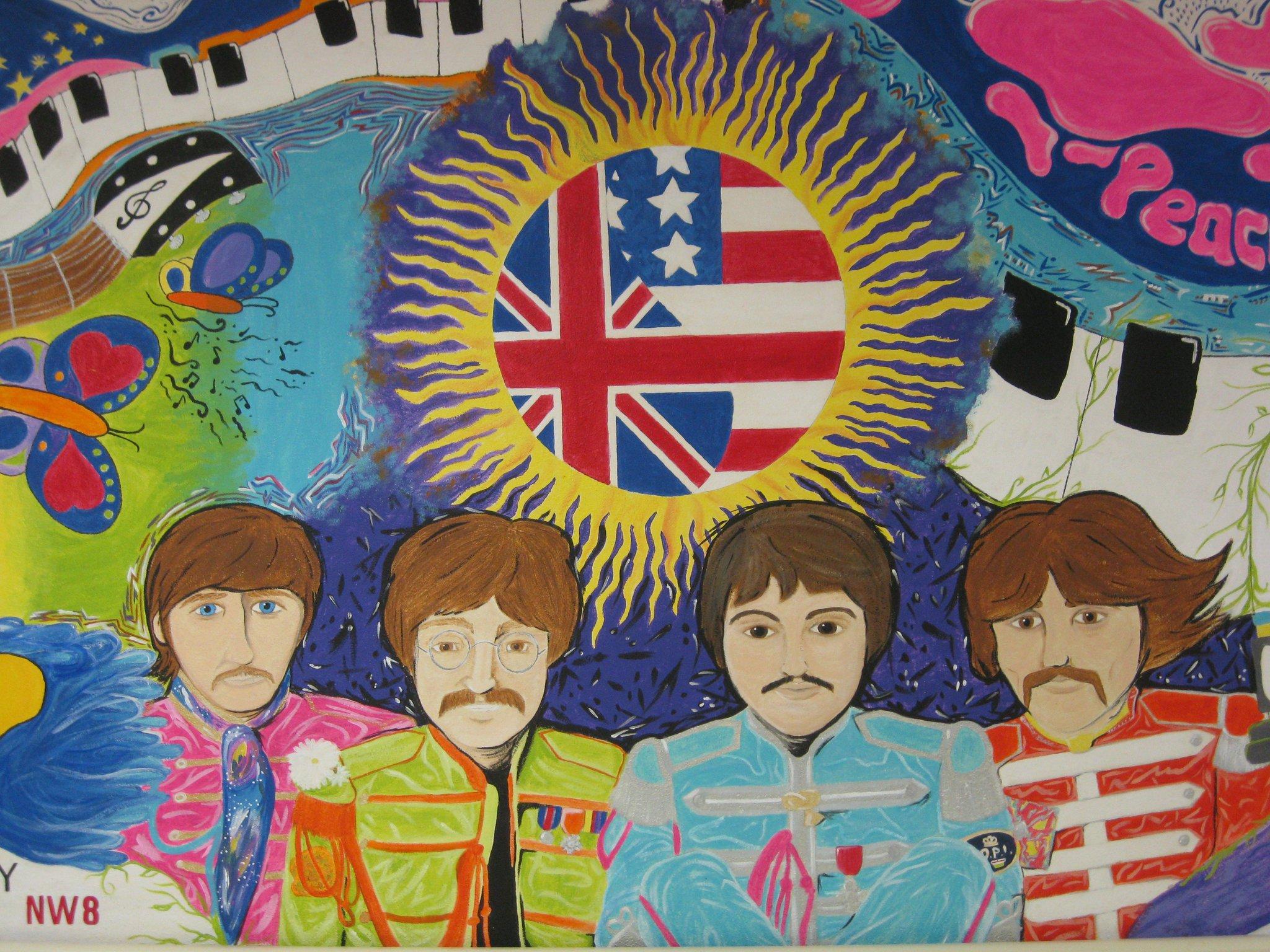 My beatles mural 5 by emilyhippieelliott on deviantart for Beatles wall mural