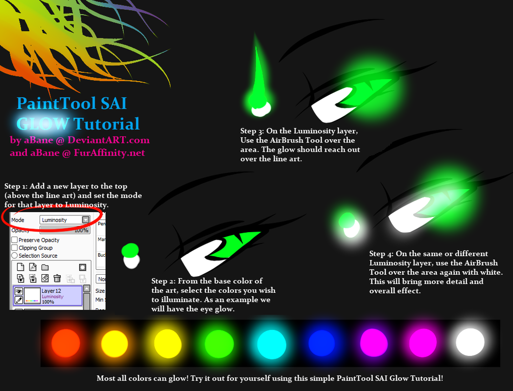How To Make Things Glow In Paint Tool Sai