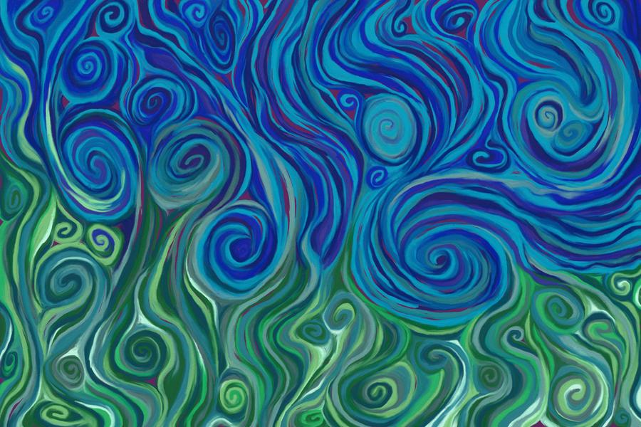 Spiraling Upward Despite Blue by Emily848