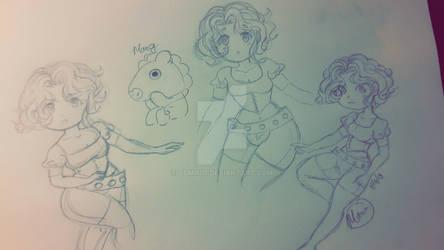1 am sketching