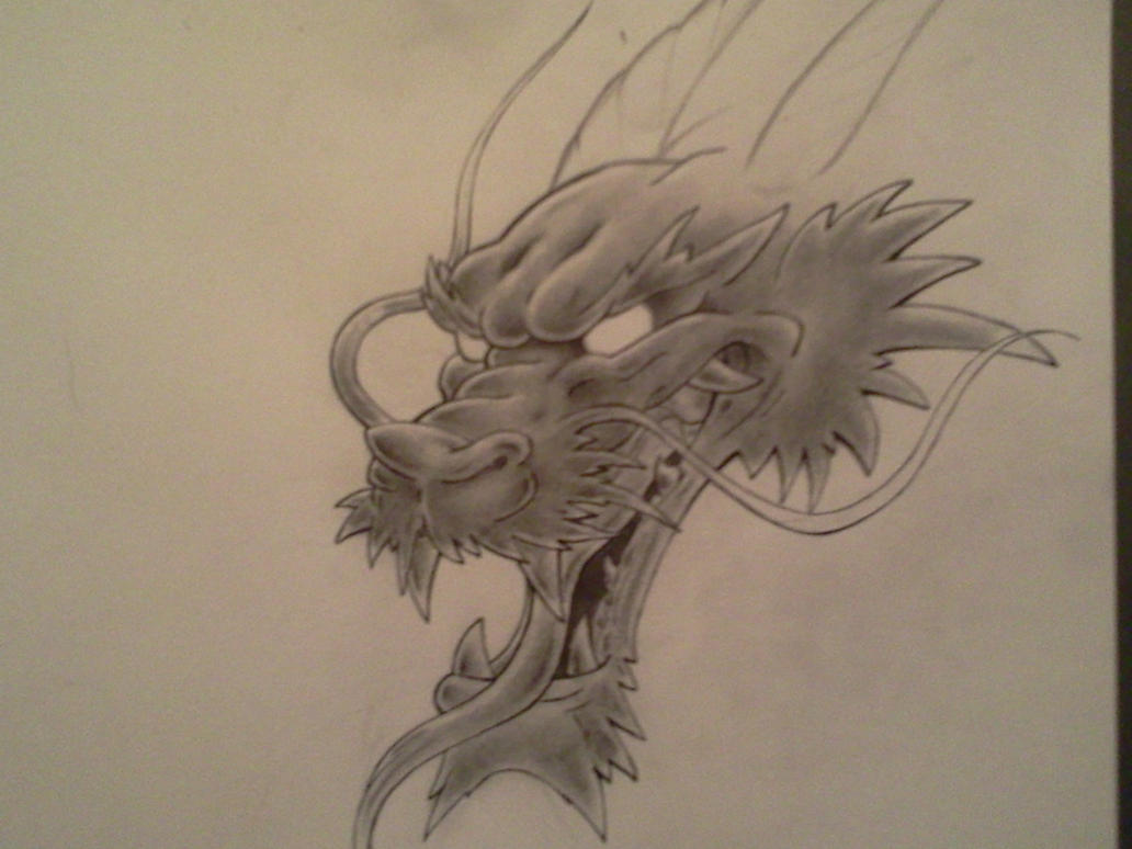 dragon head sketch by darkdreamsj on deviantart. Black Bedroom Furniture Sets. Home Design Ideas