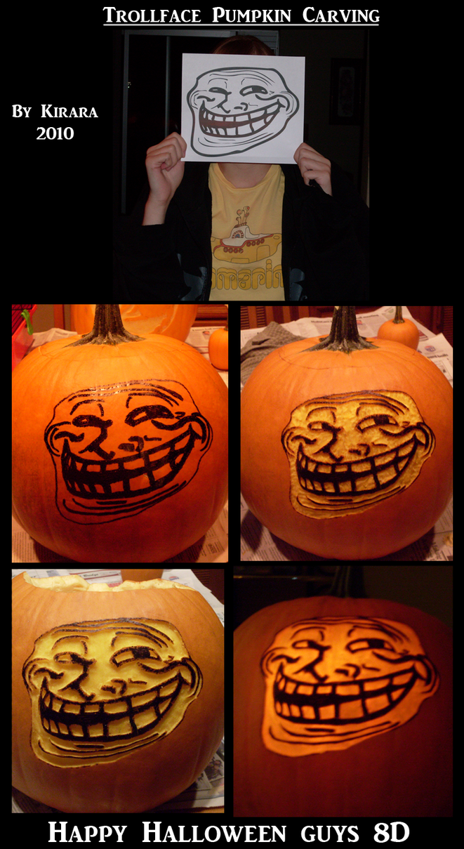 Trollface Carving 2010 by KiRAWRa