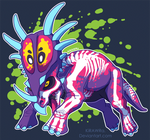 Radioactive Styracosaurus by KiRAWRa