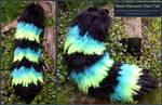 Neon Raccoon Yarn Tail Set