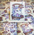 Feminist Unicorn Vinyl Stickers