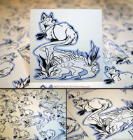 Foxtail River Vinyl Stickers by KiRAWRa
