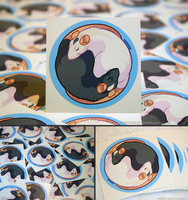 YinYang Rats Vinyl Stickers by KiRAWRa