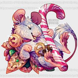 Aywas: Christmas Mouse Bumble by KiRAWRa