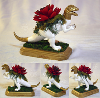 Dilophosaur Planter Centerpiece 2 by KiRAWRa