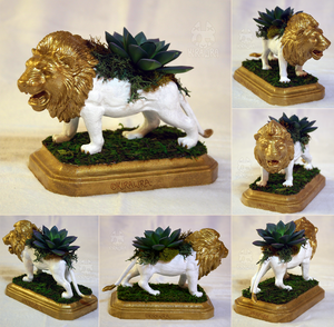 Lion Planter Centerpiece by KiRAWRa